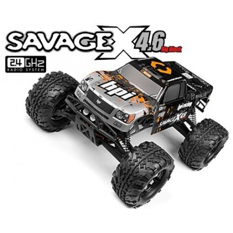 SAVAGE X 4.6 RTR (SILVER/BLACK)