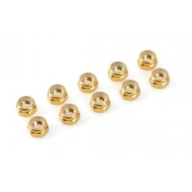 Nylstop nut M2  Gold ,...