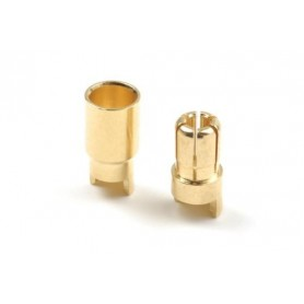 6.0mm gold connector, Male...
