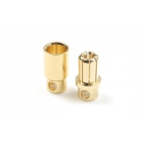 8.0mm gold connector, Male...