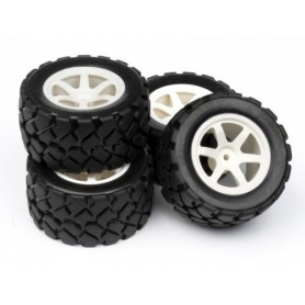 Truggy Wheel & Tyre Set
