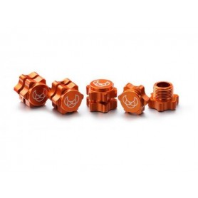 Wheel Hub Set 17mm orange (4)