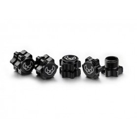 Wheel Hub Set 17mm black (4)