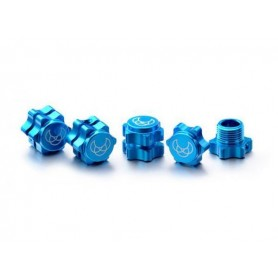 Wheel Hub Set 17mm blue (4)