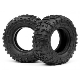 HB ROVER 1.9 TIRE (Red/Rock...