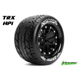 MT-ROCKET 1:10 Monster Truck Tire Set Mounted Soft Black 2.8 - LR-T3201SBH