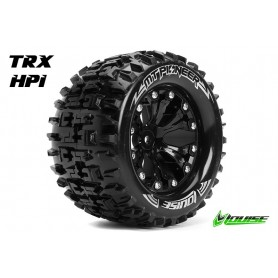 MT-Pioneer 1:10 Monster Truck Tire Set Mounted Soft Black - LR-T3202SBH
