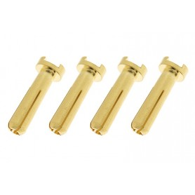Connector 4.0mm Gold Plated 90 Deg Male - 4 pcs - GF-1000-013