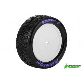 E-PHANTOM 1:10 Buggy Tire Set Mounted Super Soft White Rimsr - LR-T3178VWKF