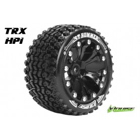 ST-HUMMER 1:10 Stadium Truck Tire Set Mounted Soft Black 2.8 - LR-T3209SBH