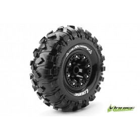 CR-ROWDY 1:10 Crawler Tire Set Mounted Super Soft Black 2.2 - LR-T3238VB
