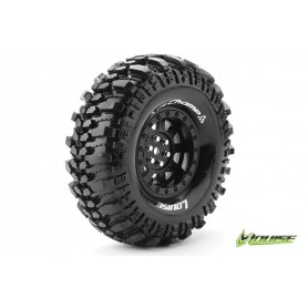 CR-CHAMP 1:10 Crawler Tire Set Mounted Super Soft Black 1.9r - LR-T3231VB