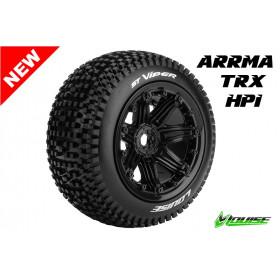 ST-VIPER - 1-8 Stadium Truck Tire Set - Mounted - Sport - Bl - LR-T3289B