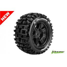 X-PIONEER X-Maxx Serie Tire Set Mounted Sport Black Rims Hex - LR-T3296B