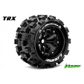 MT-MCROSS 1:8 Monster Truck Tire Set Mounted Medium Black - LR-T3276BH