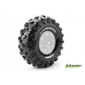 CR-ROWDY 1:10 Crawler Tire Set Mounted Super Soft Black 2.2r - LR-T3238VI
