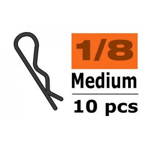 Body Clips - 45° Bent - Medium - Black - 10 pcs - GF-0410-014