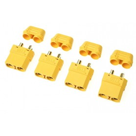 Connector - XT-90H - w/ Cap - Gold Plated - Male - 4 pcs - GF-1053-002