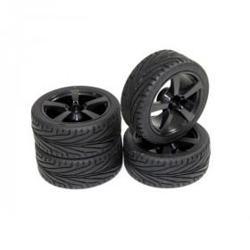 "Wheel Set Onroad ""5 Spoke / Profile"" black 1:10 - 2510006"