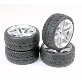 """Wheel Set Onroad """"10 Spoke / Profile"""" silver 1:10 - 2510005"""