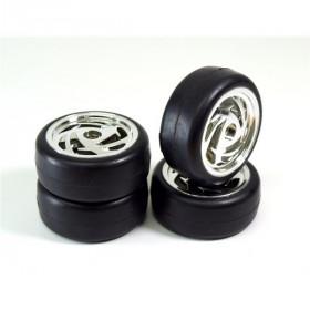 "Wheel Set Onroad ""Ronin"" Slick chrome 1:10 - 2510016"