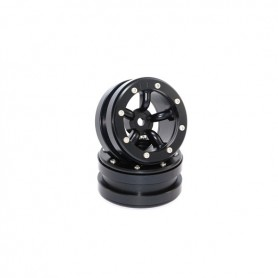 Beadlock Wheels PT-Safari Black/Black 1.9 - MT0010BB