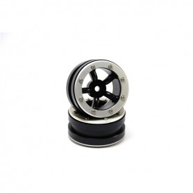 Beadlock Wheels PT-Safari Black/Silver 1.9 - MT0010BS
