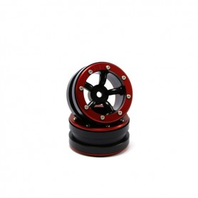 Beadlock Wheels PT-Safari Black/Red 1.9 - MT0010BR