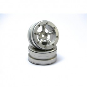 Beadlock Wheels PT-Safari Silver/Silver 1.9 - MT0010SS