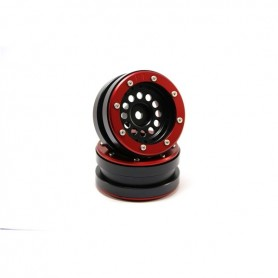 Beadlock Wheels PT-Bullet Black/Red 1.9 - MT0020BR