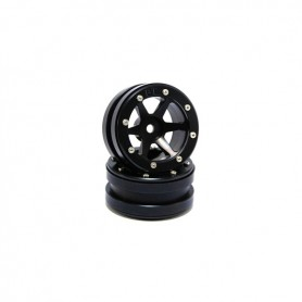 Beadlock Wheels PT-Slingshot Black/Black 1.9 - MT0030BB