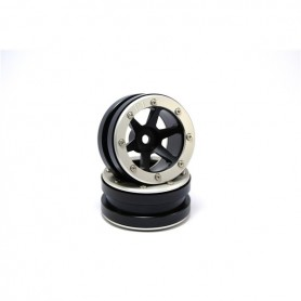 Beadlock Wheels PT- Slingshot Black/Silver 1.9 - MT0030BS