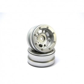 Beadlock Wheels PT- Distractor Silver/Silver 1.9 - MT0040SS