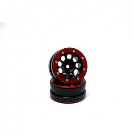 Beadlock Wheels PT- Ecohole Black/Red 1.9 - MT0050BR