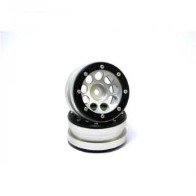 Beadlock Wheels PT- Ecohole Silver/Black 1.9 - MT0050SB