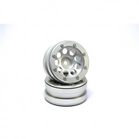 Beadlock Wheels PT- Ecohole Silver/Silver 1.9 - MT0050SS