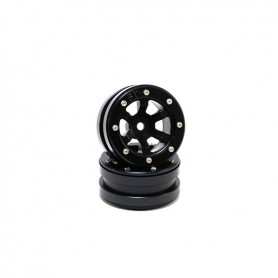 Beadlock Wheels PT- Claw Black/Black 1.9 - MT0060BB