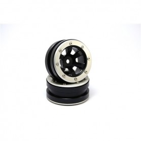 Beadlock Wheels PT- Claw Black/Silver 1.9 - MT0060BS