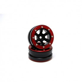 Beadlock Wheels PT- Claw Black/Red 1.9 - MT0060BR