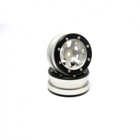 Beadlock Wheels PT- Claw Silver/Black 1.9 - MT0060SB