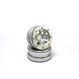 Beadlock Wheels PT- Claw Silver/Silver 1.9 - MT0060SS
