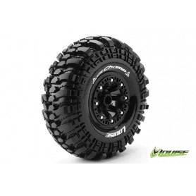 CR-CHAMP 1:10 Crawler Tire Set Mounted Super Soft Black 2.2 - LR-T3236VB