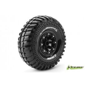 CR-ARDENT 1:10 Crawler Tire Set Mounted Super Soft Black 2.2 - LR-T3237VB