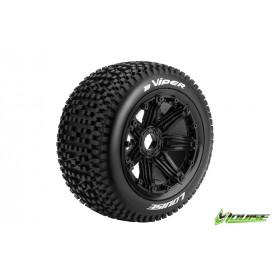 B-VIPER 1:5 Buggy Tire Set Mounted SPORT Black Rims Hex 24mm - LR-T3245B