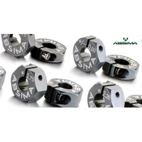 Alu 7075 T6 wheel hubs offset 0mm 1:10 - 2560011