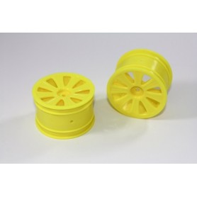 Rear Rim yellow (2 pcs) 4WD...