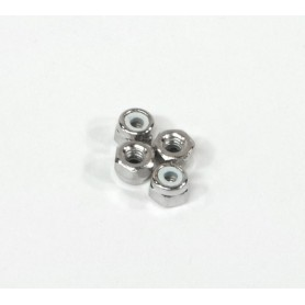 NYLON NUT M2.6 (SILVER/4PCS)