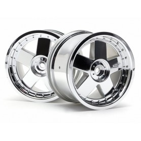 GT 5 Wheel Chrome 83x56mm/2pcs
