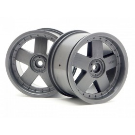 GT 5 WHEEL GREY (83X56MM/2PCS)