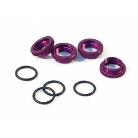 Shock Spring Adjust Nut Purple